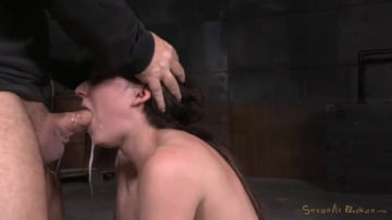 Amy Faye - Fresh faced Amy Faye bound on sybian and throat trained by hard cock, multiple orgasms!