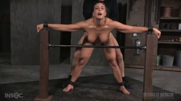 Angel Allwood - Angel Allwood BaRS show continues with a spit roasting on hard cock, brutal BBC deepthroat!