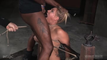 Angel Allwood - Fast paced Angel Allwood BaRS show with breast bondage, relentless sybian orgasms and BBC deepthroat