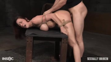Chanel Preston - Lush brunette Chanel Preston tightly tied in rope and roughly fucked, worked over by big dick!