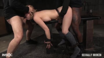Cherry Torn - All natural sex bomb Cherry Torn bound doggystyle and facefucked by BBC with merciless fucking!