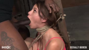 Devilynne - 5 foot high girl next door Devilynne tightly tied in strict bondage with epic drooling deepthroat!