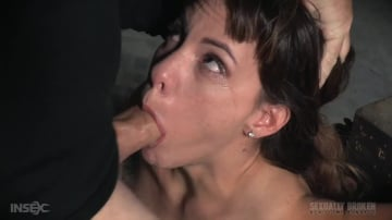 Devilynne - Deepthroat queen Devilynne does a live BaRS show bound to a sybian as she is facefucked by BCC!