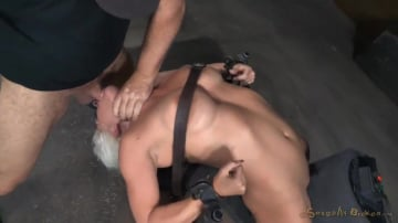 Holly Heart - Big breasted sybian slut Holly Heart bent over backwards with brutal drooling deepthroat!