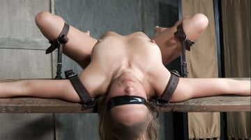 Julia Waters - Julia Waters first ever porn shoot. Brutal throat fuckings, ANAL fucking, with amazing bondage