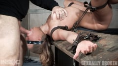 Julia Waters - Julia Waters first ever porn shoot. Brutal throat fuckings, ANAL fucking, with amazing bondage (Thumb 06)