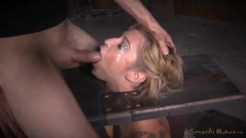 Kleio Valentien - Tattooed blonde Kleio Valentien bound on sybian with drooling destroyed deepthroat!