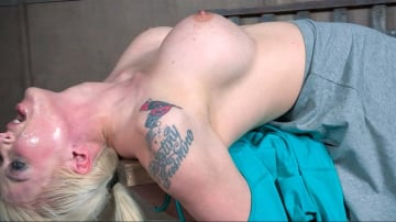 Leya Falcon - Leya Falcon, hot blonds with Huge tits, bound down and double fucked throated. Pussy smothered!