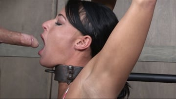 London River - London River Bound Over Sybian and Face Fucked, Having Brutal Orgasms That Test Her Restraints!