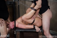 Maddy O'Reilly - Maddy O'Reilly is sexually brutalized by cock and bondage. Deepthroated and fucked while helpless. (Thumb 01)