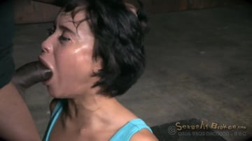 Mia Austin - Eager and willing Mia Austin handcuffed and roughly fucked with messy drooling deepthroat!