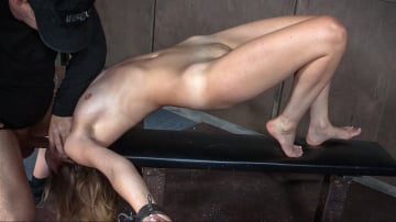 Mona Wales - Hot Domme Mona Wales, is bound down and brutally dicked down, rough face fucking and O's