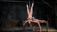 Rain DeGrey - Two for one as Wenona and Rain DeGrey are bound, hung upside down and roughly fucked by BBC! (Thumb 02)