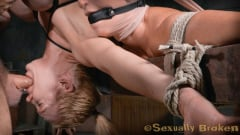 Rain DeGrey - Two for one as Wenona and Rain DeGrey are bound, hung upside down and roughly fucked by BBC! (Thumb 05)