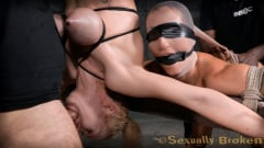 Rain DeGrey - Two for one as Wenona and Rain DeGrey are bound, hung upside down and roughly fucked by BBC! (Thumb 11)