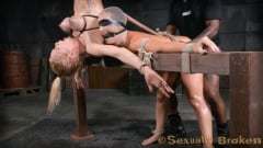 Rain DeGrey - Two for one as Wenona and Rain DeGrey are bound, hung upside down and roughly fucked by BBC! (Thumb 13)