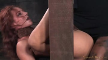 Savannah Fox - Sexy squirting Savannah Fox roughly fucked in strict bondage with epic deepthroat on BBC!