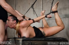 Scarlet Sade - Sexy Girl Next Door has her first Bondage and rough sex experience, gets destroyed by cock! (Thumb 01)