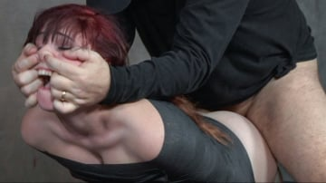 Stephie Staar - Stephie Staar slips into Sub Space pretty fast and takes a brutal face and pussy pounding!