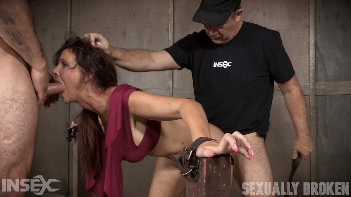 Insex 'Sexy MILF Syren De Mer gets what she wants; brutal face fucking, two cock beatdown!' starring Syren De Mer (photo 13)