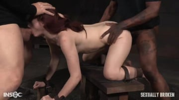 Violet Monroe - Stunning starlet Violet Monroe restrained doggy style and dicked down into a drooling mess!
