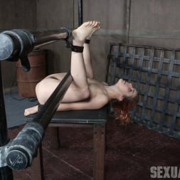 Amarna Miller in 'Insex' is bound on her back and fucked from both ends, brutal face fucking and orgasms! (Thumbnail 2)