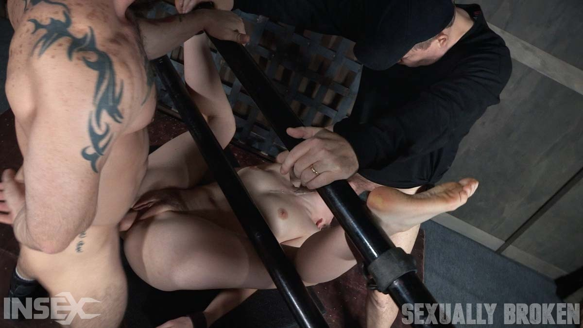 Insex 'is bound on her back and fucked from both ends, brutal face fucking and orgasms!' starring Amarna Miller (Photo 7)