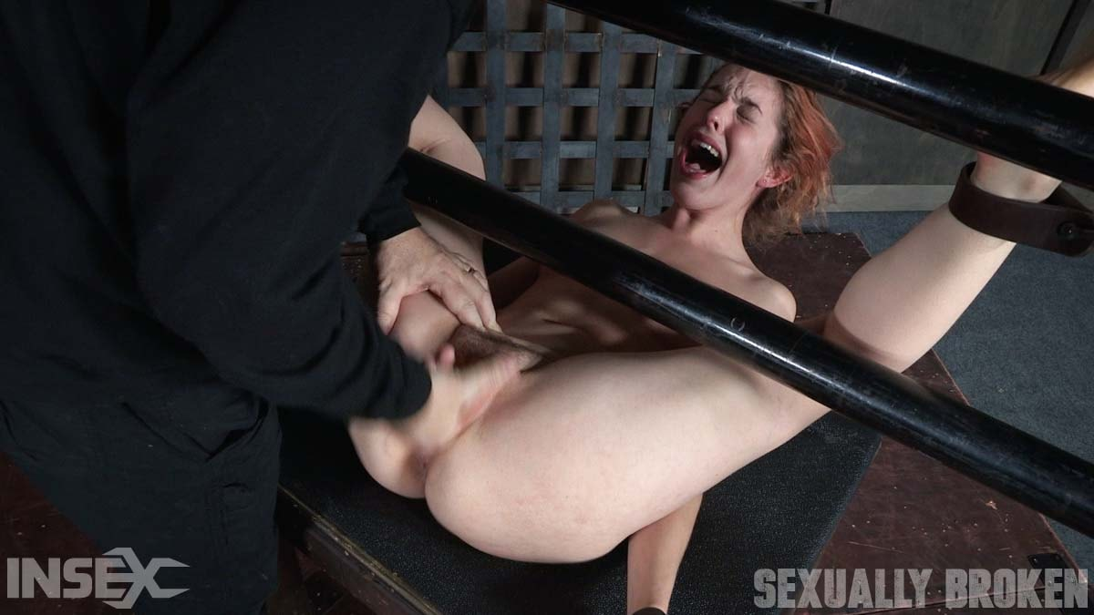 Insex 'is bound on her back and fucked from both ends, brutal face fucking and orgasms!' starring Amarna Miller (Photo 12)