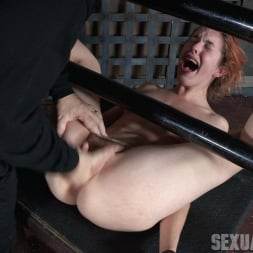 Amarna Miller in 'Insex' is bound on her back and fucked from both ends, brutal face fucking and orgasms! (Thumbnail 12)