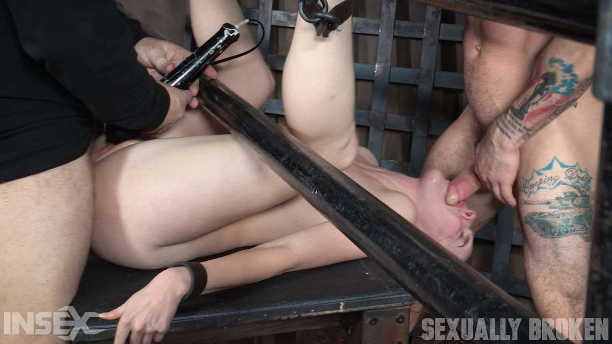 Insex 'is bound on her back and fucked from both ends, brutal face fucking and orgasms!' starring Amarna Miller (Photo 14)