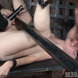Amarna Miller in 'Insex' is bound on her back and fucked from both ends, brutal face fucking and orgasms! (Thumbnail 14)