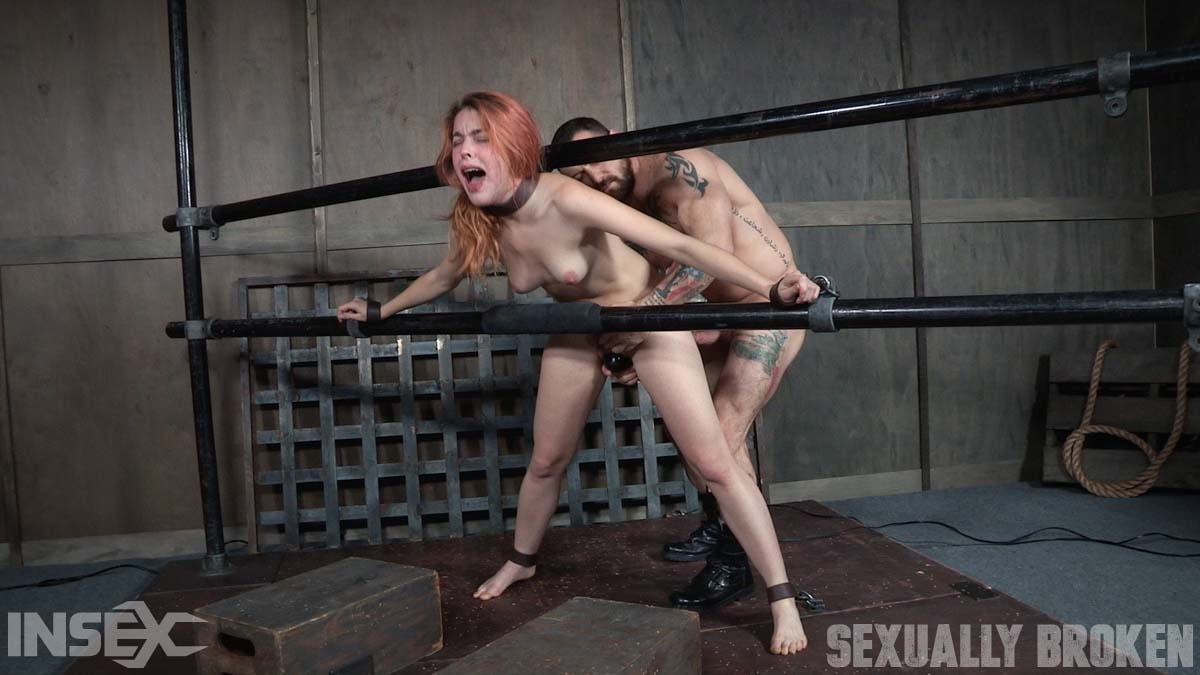 Insex 'is one sexy redhead, who gets destroyed by cock and orgasms while bound and helpless!' starring Amarna Miller (Photo 6)