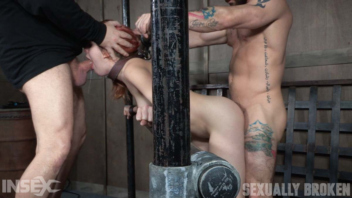 Insex 'is one sexy redhead, who gets destroyed by cock and orgasms while bound and helpless!' starring Amarna Miller (Photo 8)
