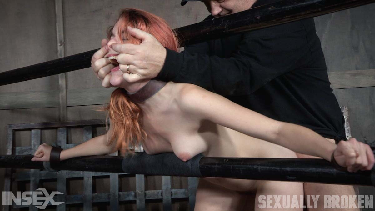 Insex 'is one sexy redhead, who gets destroyed by cock and orgasms while bound and helpless!' starring Amarna Miller (Photo 11)