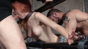 Amarna Miller in 'is one sexy redhead, who gets destroyed by cock and orgasms while bound and helpless!'