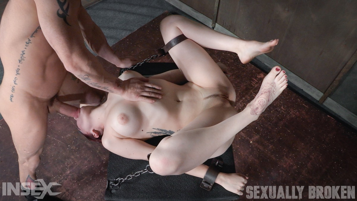 Insex 'is bound down and brutal throated and fucked to screaming orgasms! Hard rough sex!' starring Amber Ivy (Photo 12)