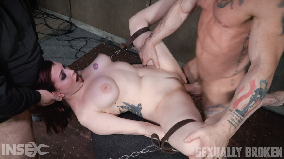 Insex 'is bound down and brutal throated and fucked to screaming orgasms! Hard rough sex!' starring Amber Ivy (Photo 15)