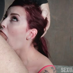 Amber Ivy in 'Insex' is bound in shackles on a Sybian, made to cum over and over while brutally face fucked! (Thumbnail 5)