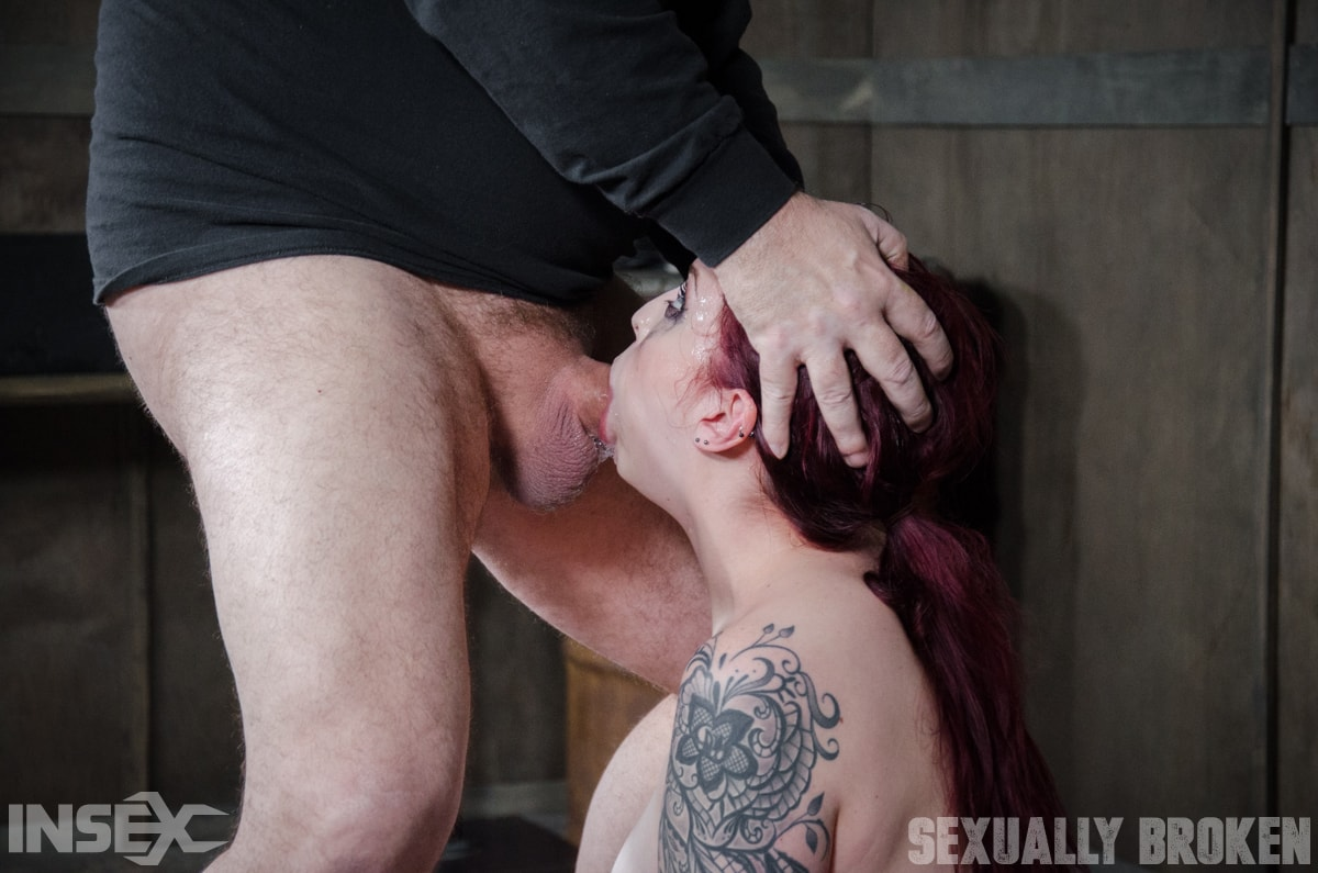 Insex 'is bound in shackles on a Sybian, made to cum over and over while brutally face fucked!' starring Amber Ivy (Photo 12)