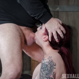 Amber Ivy in 'Insex' is bound in shackles on a Sybian, made to cum over and over while brutally face fucked! (Thumbnail 12)
