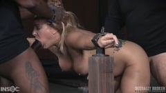 Angel Allwood - Angel Allwood BaRS show continues with a spit roasting on hard cock, brutal BBC deepthroat! (Thumb 04)