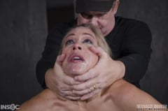 Angel Allwood - Angel Allwood BaRS show continues with a spit roasting on hard cock, brutal BBC deepthroat! (Thumb 15)