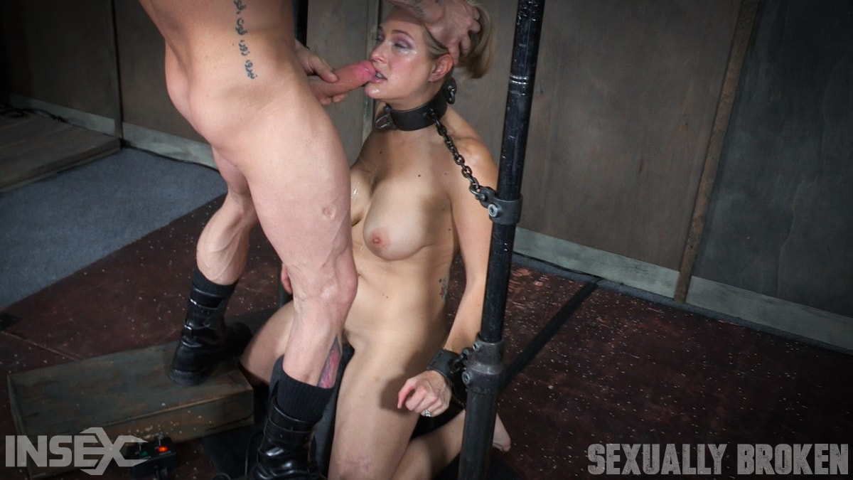 Insex 'is neck bound on a Sybian and throat fucked while violently cumming over and over!' starring Angel Allwood (Photo 1)