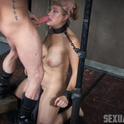 Angel Allwood in 'Insex' is neck bound on a Sybian and throat fucked while violently cumming over and over! (Thumbnail 1)
