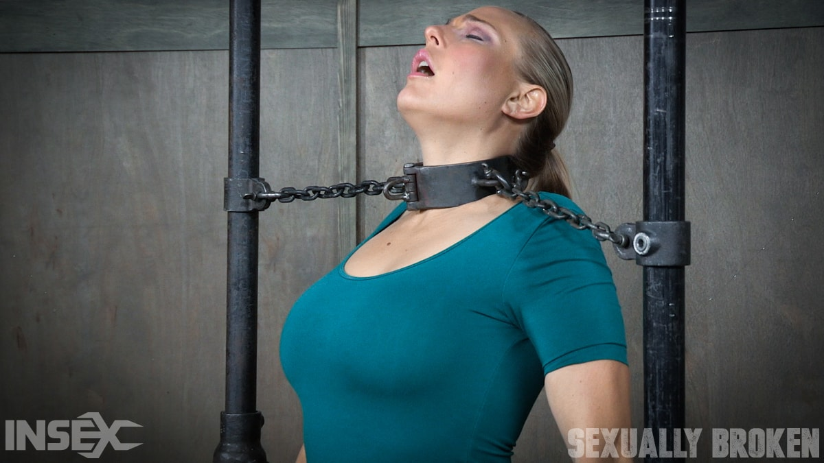 Insex 'is neck bound on a Sybian and throat fucked while violently cumming over and over!' starring Angel Allwood (Photo 3)