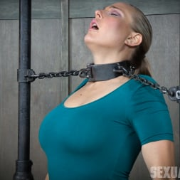 Angel Allwood in 'Insex' is neck bound on a Sybian and throat fucked while violently cumming over and over! (Thumbnail 3)