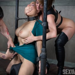 Angel Allwood in 'Insex' is neck bound on a Sybian and throat fucked while violently cumming over and over! (Thumbnail 4)