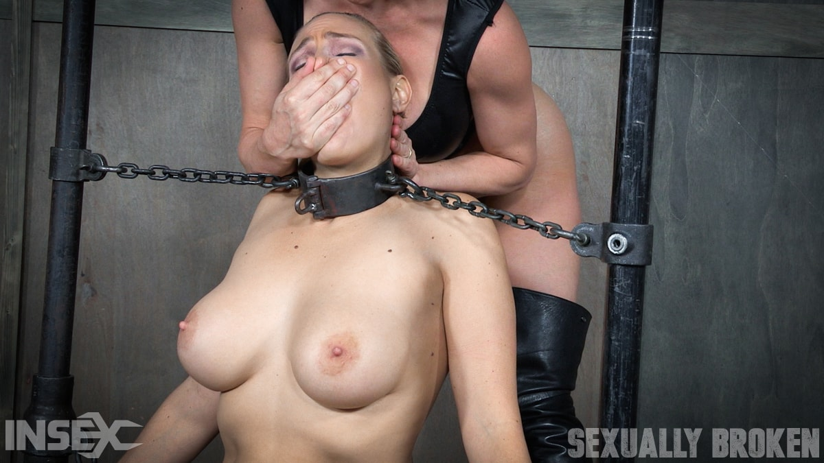 Insex 'is neck bound on a Sybian and throat fucked while violently cumming over and over!' starring Angel Allwood (Photo 5)