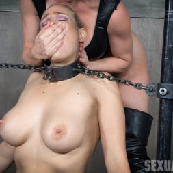 Angel Allwood in 'Insex' is neck bound on a Sybian and throat fucked while violently cumming over and over! (Thumbnail 5)