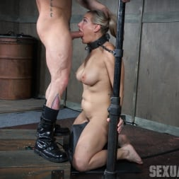Angel Allwood in 'Insex' is neck bound on a Sybian and throat fucked while violently cumming over and over! (Thumbnail 7)